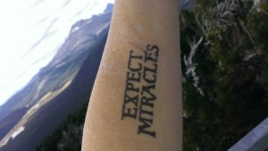 "Conscious Ink ""Expect Miracles"" Manifestation Tattoo Greeting Card With Temporary Tattoo"
